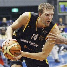 Dirk Nowitzki playing for the German national team