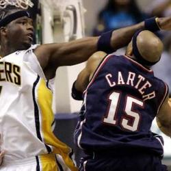 Jermaine O'Neal and Vince Carter