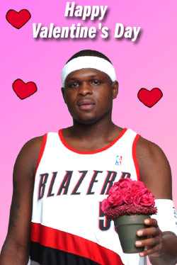 Zach Randolph Happy Valentine's Day e-Card