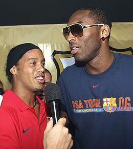 Ronaldinho interviews Kobe
